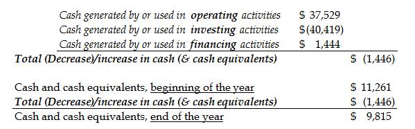 Cash Flow Statement Summary