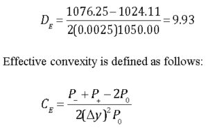 Effective Duration and Effective Convexity Example